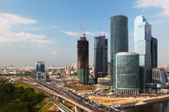 Moscow City complex of skyscrapers in Moscow Stock Photo