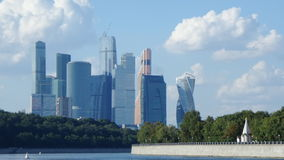 Moscow-city complex. View to the Moscow-city complex behind the river royalty free stock photo