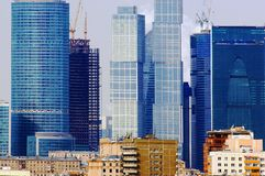 Moscow City construction 2012. Construction 2012 april Stock Images