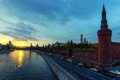 Moscow city dawn Stock Photography