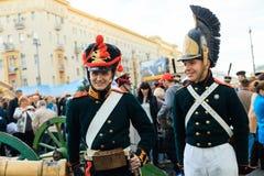 Moscow City Day. Performance on Tverskaya Street. MOSCOW, RUSSIA - SEPTEMBER 10, 2016: Moscow City Day, 869 anniversary of the city. Performance on Tverskaya Stock Photos