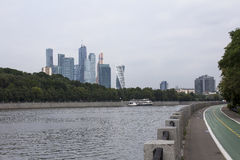 Moscow City  embankment Royalty Free Stock Photos