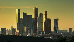 Moscow City evening timelapse stock footage