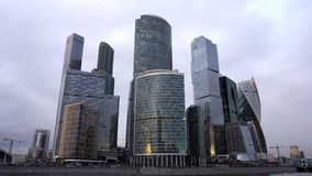 Moscow City - futuristic skyscrapers International Business Center. Moscow City - futuristic skyscrapers Moscow International Business Center stock video footage