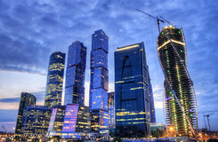 Moscow city, hdr. Royalty Free Stock Photo