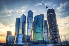Moscow city hdr process Stock Photos