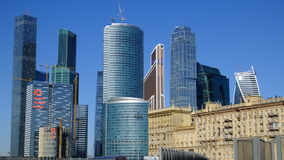 Moscow City. This house high-rise building new and old building building technology business center Royalty Free Stock Images