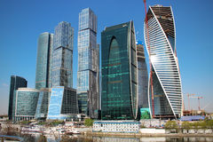 Moscow-city. Moscow international business center Moscow-city is being built business district in Moscow, Presnenskaya embankment. Currently administratively is Stock Images