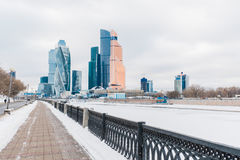 Moscow City International Business Center in Russia Royalty Free Stock Photos