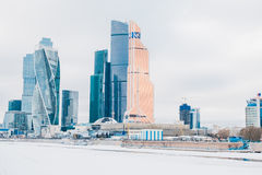Moscow City International Business Center in Russia Royalty Free Stock Photography