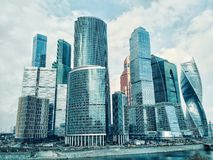 Moscow City International Business Center in Russia stock image