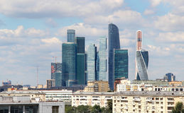 Moscow city international business centre, Russia Stock Photos
