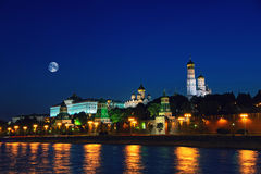 Moscow city Kremlin at night, Russia Stock Photo