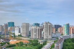 Moscow city landscape. A panoramic view of the moscow city Stock Images