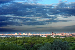 Moscow city landscape. Evening; park; cloudy Stock Photos