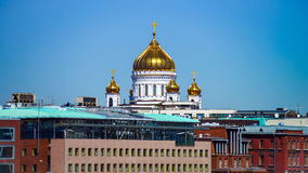 Moscow city landscape with architectural landmarks Stock Images