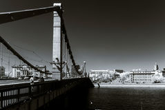 Moscow city landscape infrared view Stock Photos