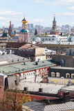 Moscow city landscape with Kremlin Stock Photo