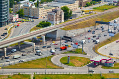 Moscow - city landscape, roads in the city Stock Image