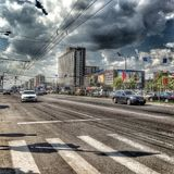 Moscow city life Royalty Free Stock Photography