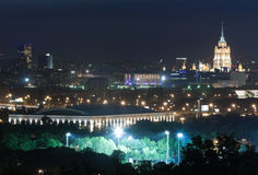 Moscow city-line night Stock Photo