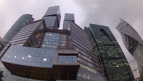 Moscow City. Business center, a quarter of skyscrapers in Moscow, the capital city of Russia Stock Image
