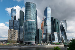 Moscow-city. Moscow International Business Center Royalty Free Stock Images