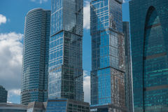Moscow City - Moscow International Business Center at day. Royalty Free Stock Photo
