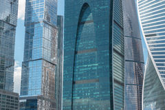 Moscow City - Moscow International Business Center at day. Stock Image
