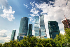 Moscow-city (Moscow International Business Center) Stock Image