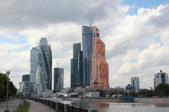 Moscow City and Moscow River Royalty Free Stock Photos