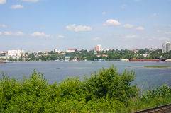 Moscow city and Moscow river Royalty Free Stock Photo