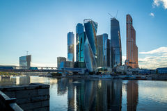 Moscow-City in Moscow Stock Photo