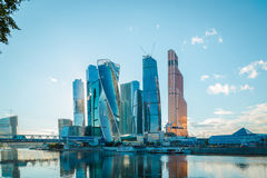 Moscow-City in Moscow Stock Image