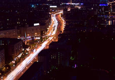 Moscow city night Royalty Free Stock Images