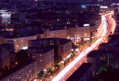 Moscow city night Royalty Free Stock Image