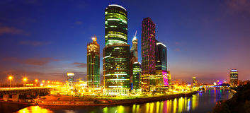 Moscow City at night Stock Image