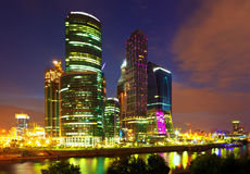 Moscow City at night Royalty Free Stock Images