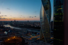 Moscow City at night Royalty Free Stock Photography