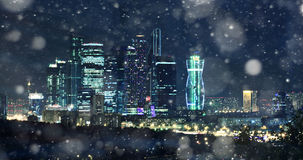 Moscow-city night landscape bright Stock Images