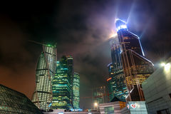 Moscow-city at night, Russia Stock Image