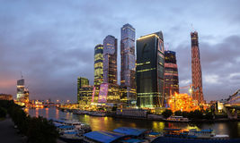Moscow City, night view Royalty Free Stock Photography