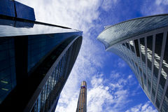Moscow city office buildings. Moscow city modern office buildings Royalty Free Stock Photo