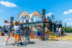 Rent-a-bike service in Moscow Royalty Free Stock Photography