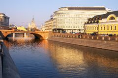 Moscow city and river. Russia Royalty Free Stock Photos