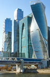 MOSCOW CITY. RUSSIA, MOSCOW. Modern skyscrapers in Moscow city downtown Royalty Free Stock Photography