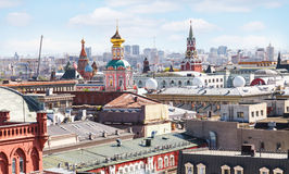 Moscow city skyline with Kremlin Royalty Free Stock Photography