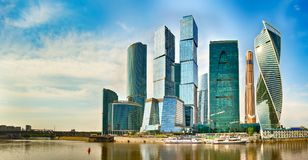 Moscow City skyline. Panorama Stock Image