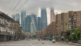 Moscow Russia time lapse stock footage