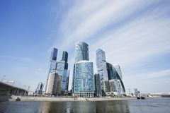 Moscow City skyscrapers. Business center. Office buildings Royalty Free Stock Photos